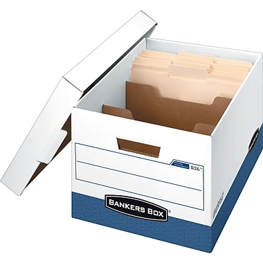Bankers Box® R-Kive® Letter/Legal Divider Box™ Storage Box, 2/Pack (83605)