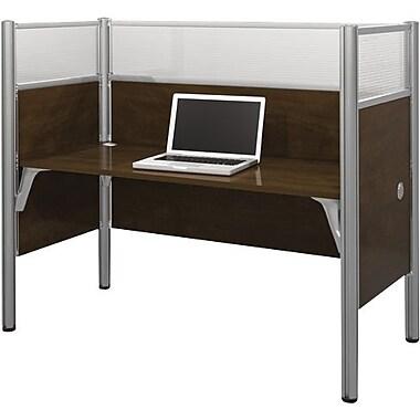 Bestar Pro-Biz Office System Simple Workstation, Full Wall, Chocolate