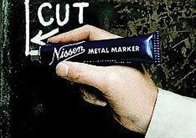 Nissen® 1/8 in Ball SS Tip Regular Paint Metal Marker, White