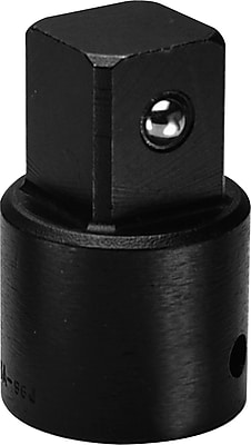 Wright Tool Black Alloy Steel Impact Adapter, 2 in (L), 1/2 in Female x 3/4 in Male Drive