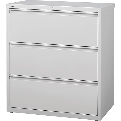 Staples Commercial 36 Quot 3 Drawer Lateral File Cabinet Gray
