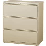 "Staples  Commercial 36"" 3-Drawer Lateral File Cabinet, Putty"