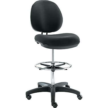 Office Star Faux Leather and Chrome Drafting Chair with Teardrop