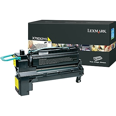 Lexmark Yellow Toner Cartridge (X792X2YG), Extra High Yield