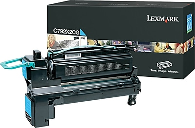 Lexmark C792 Cyan Toner Cartridge (C792X2CG), Extra High Yield