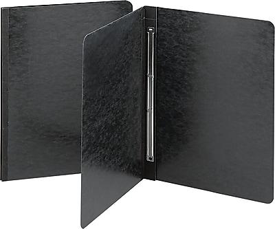 Smead Side Opening Pressboard Report Cover, Prong Fastener, Letter, , Black