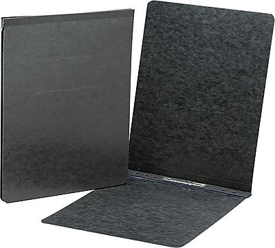 Smead End Opening Pressboard Report Cover, Prong Fastener, Letter, , Black
