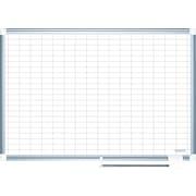 "MasterVision® 48""(H) x 72""(W) Grid Platinum Plus Dry Erase Board, Aluminium Frame, Each"