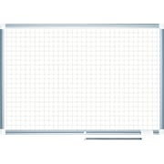 """Mastervision Grid Planning Board, 1"""" Grid, 48X72, White/Silver"""