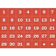 MasterVision® Calendar Magnetic Tape, Calendar Dates, Red/White