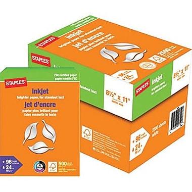 Staples® FSC-Certified Inkjet Paper, 8 1/2