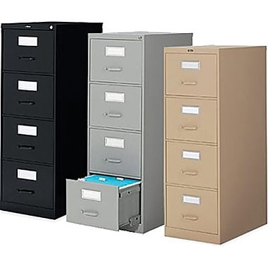 Staples® Vertical Letter File Cabinets, 4-Drawer