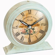 Infinity Instruments 10415-1252 Boutique Steel Analog Table Clock, Ivory