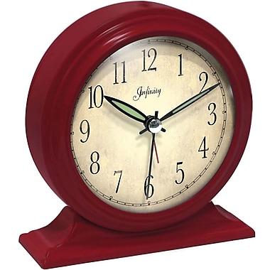 Infinity Instruments – Horloge de table analogique en acier Boutique, rouge (10415RD-2584)