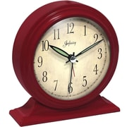 Infinity Instruments 10415RD-2584 Boutique Steel Analog Table Clock, Red