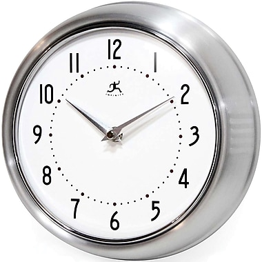 Infinity Instruments Retro Steel Analog Wall Clock