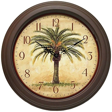 Infinity Instruments Traditional Cabana Wall Clock, Brown (12884BR-2908)
