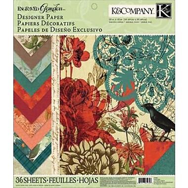K&Company Engraved Garden Designer Paper Pad, 12