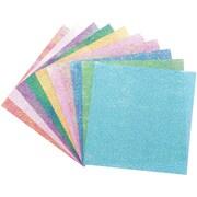 "Global Art Folia Origami Paper, 6"" x 6"", Textured Iridescent, 50/Pkg, Dot Embossing"
