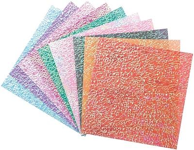 Global Art Folia Origami Paper, Textured Iridescent, Crystal Embossing, 6