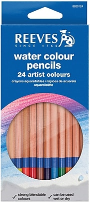 Reeves Watercolor Pencils, 24/Set
