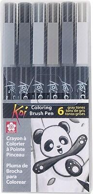 Sakura Koi Coloring Brush Pen Set, 6/Pack (XBR-6SA)