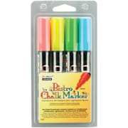 Uchida Bistro Chalk Marker Set 4/Pkg-Fluorescent Blue/Red/Green/Yellow