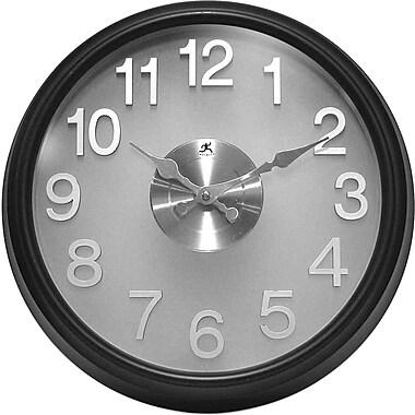 Infinity Instruments – Horloge murale moderne translucide (13314BK-2510)