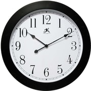 Infinity Instruments 14103 Nexus Resin Analog Wall Clock, Black