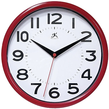 Infinity Instruments Metro Resin Analog Wall Clock, Red (14220ACBT-3364)