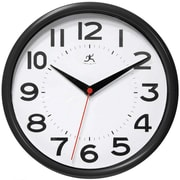 Infinity Instruments Metro Wall Clock, Black