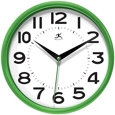 Infinity Instruments Metro Resin Analog Wall Clock, Green (14220GR-3364)
