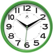 Infinity Instruments 14220GR-3364 Metro Resin Analog Wall Clock, Green