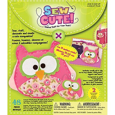 Westrim Sew Cute Craft Box Kit, Makes 2-Owl