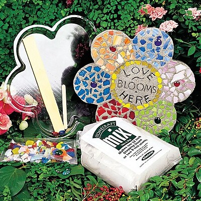 Midwest Products Mosaic Flower Stepping Stone Kit