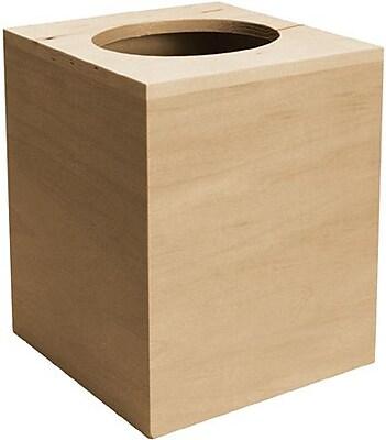 Walnut Hollow Basswood Boutique Tissue Box
