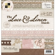 """Diecuts With A View Lace & Linen Paper Stack 12""""X12""""-48 Sheets"""