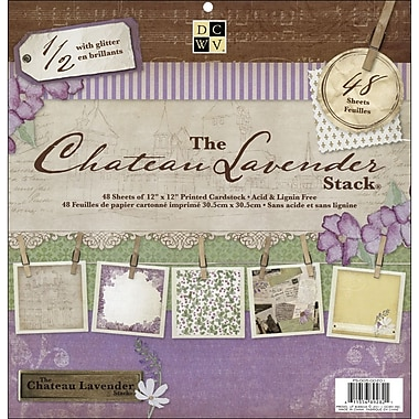 Diecuts With A View Chateau Lavender Paper Stack 12