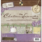 "Diecuts With A View Chateau Lavender Paper Stack 12""X12""-48 Sheets"