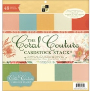 "Diecuts With A View Coral Couture Solid Cardstock Stack 12""X12""-48 Sheets"