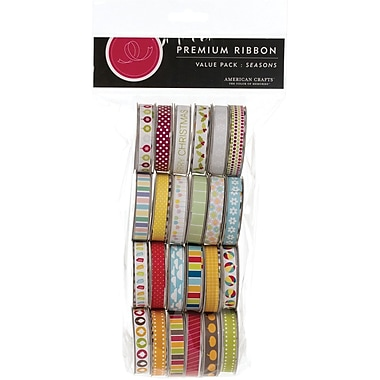 American Crafts Value Pack Premium Ribbon, 24 Spools, Seasonal 2