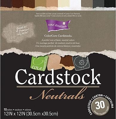 Darice Core Essentials Cardstock Pack, 12