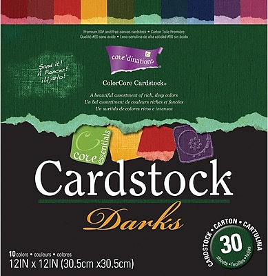 Darice Core Essentials Cardstock Pack, 12