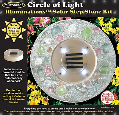 Midwest Products Solar Step Stone Kit, Circle Of Light