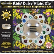Midwest Products Solar Step Stone Kit, Kids' Daisy Night Glo