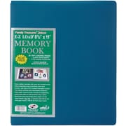 "Pioneer Family Treasures Deluxe Fabric Postbound Album, 8.5"" x 11"", Seabreeze Blue"