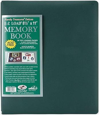 Pioneer Family Treasures Deluxe Fabric Postbound Album, 8.5
