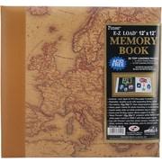 """Pioneer Designer Print Postbound Album, 12"""" x 12"""", Map"""