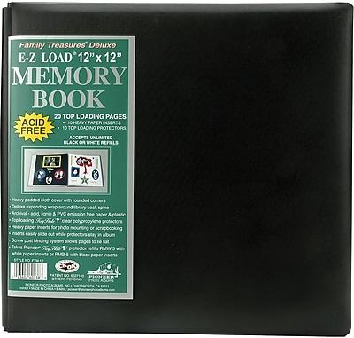 Pioneer Family Treasures Deluxe Fabric Postbound Album, 12