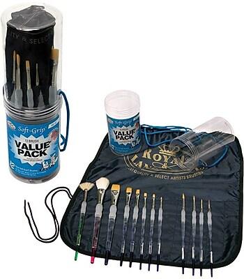 Royal Brush Soft-Grip Brush Value Pack, 12/Pack ( SG-12)